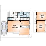 2号棟 参考プラン図 建物1,029万円 土地建物セット価格3,490万円(間取)